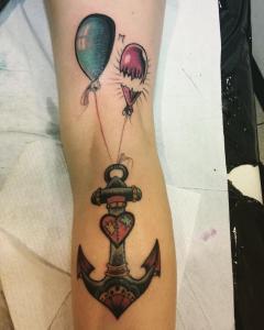 Manes Antonio anchor old school manes rebel ink tatto studio bologna